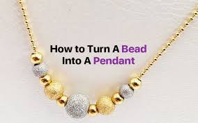 6 steps to make bead pendants