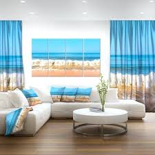nice beach canvas wall art beautiful blue sea and roaring waves beach canvas wall art