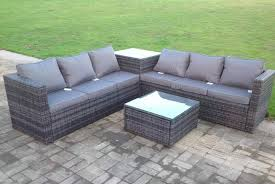 grey rattan furniture set 6 seater