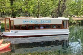 glass bottom boat at the aquarena center