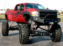 Black flames on a red truck, really cool! | Tricked out Trucks ...