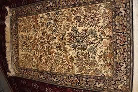 silk on silk fine quality vintage qum handmade persian rug circa 1960s 1970s