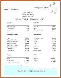 Red Roses Beauty Salon Price List Template Poster Free – Appnews