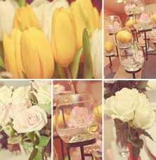Good Looking Accessories For Table Decoration With Yellow Flower Centerpiece  : Fascinating Yellow And White Wedding