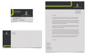 Trucking Transport Business Card Letterhead Template Design