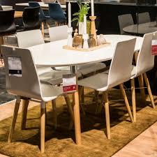 Großer Design Esstisch Tisch Belina Holz Oval Ausziehbar 170