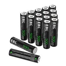 Do Solar Lights Have Batteries In Them Amazon Com Ebl Aaa Rechargeable Batteries 500mah Ni Cd