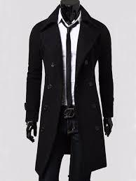 new mens slim stylish trench coat winter long
