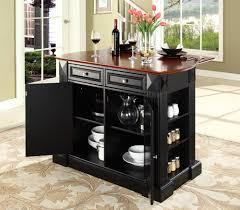 lafayette solid granite top kitchen island in black