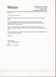 Ideas Of Letter Of Recommendation Sample For Preschool Teacher For