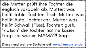 Die Mutter Prüft Ihre Tochter Die Englisch Vokabeln Ab Mutter Was