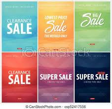 Create Leaflet Online Set Of Sale Posters Or Flyers Design Discount Background For The Online Store Shop Promotional Leaflet Poster Banner Vector Illustration