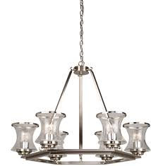 artcraft ac10236bn dorsett contemporary brushed nickel chandelier lamp loading zoom