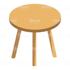 round table clipart. Brilliant Table Vector Isomtrique Round Table Basse Avec Trois Jambes  Throughout Round Table Clipart L