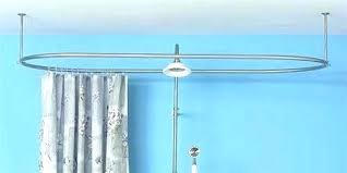 marvelous circular shower curtain rods oval shower rod bathtub of curtain installed regarding remodel oval shower