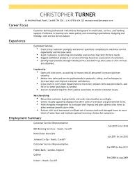 bank customer service representative resume resume of customer service representative image gallery of first