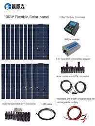 details about 1500w flexible solar panel kit system 120a controller 3000w inverter house boat