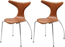 dining chairs leather uk. dolphin light brown leather dining chair with chrome legs (set of 4) chairs uk