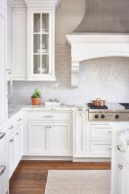 Captivating White And Gray Kitchen With Light Gray Mini Subway Tiles Light Gray Subway  Tile Backsplash Best Interior