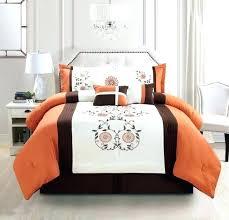orange and brown comforter sets orange and brown comforter sets 7 piece bedding rust orange brown