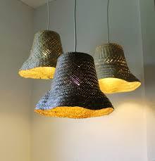 repurposed lighting fixtures. Basket Case - Upcycled Wicker Hanging Pendant Lighting Fixture Repurposed Woven Rattan Planter Lamp Fixtures L