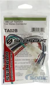 scosche tab wire harness to connect an aftermarket stereo wire harness to connect an aftermarket stereo receiver to select 1987 up toyota vehicles zoom
