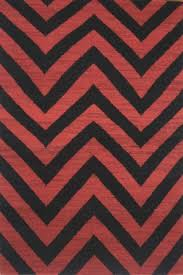 rugs red black chevron hand woven dhurrie