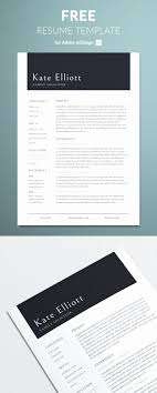 Adobe Indesign Resume Template New Resume And Template Free Indesign