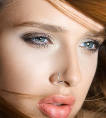 makeup around a nose piercing