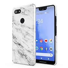 Solid White Original <b>Marble Print Hard</b> Plastic Phone <b>Case</b> for ...