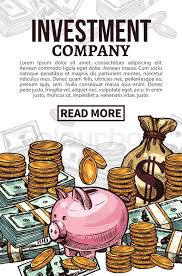 Investment Company Poster Of Finance Stock Vector