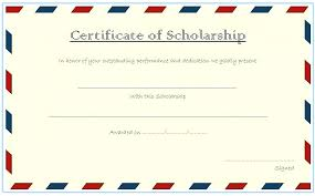 Scholarship Certificate Template For Word Certificate Award Template Word Student Attendance
