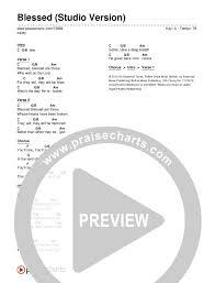 Blessed Studio Version Chord Chart Editable Kalley