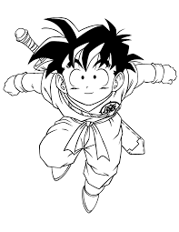 Small Picture Dragon Ball Z Goten Coloring Page H M Coloring Pages
