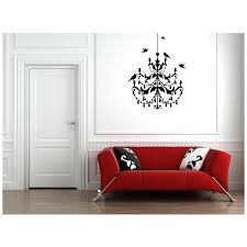 birds on the chandelier wall art stickers wall art decal for bedroom