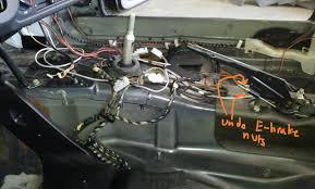 e30 surame removal e brake adjustment nuts