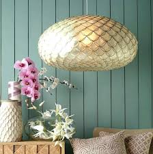 pendant light capiz shell