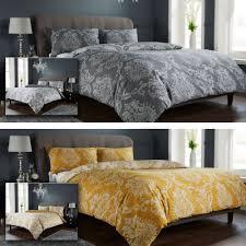 details about bed linen duvet cover set quilt cover set reversible shabby chic damask pattern