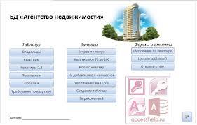 Готовая база данных access Агентство недвижимости Базы данных access Готовая база данных access Агентство недвижимости