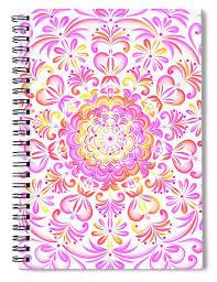 This 6 X 8 Spiral Notebook Features The Artwork Multi Colored