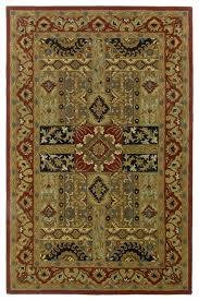 batroun ba155 olive burdy black tan area rug 6 x6 traditional area rugs by arearugs