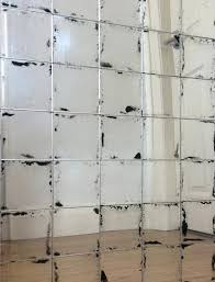 bespoke antique glass square mirror wall tiles