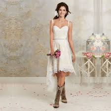 summer high low casual wedding dresses weddingood