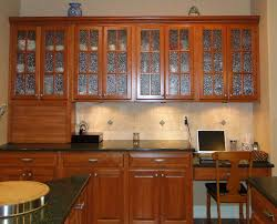 kitchen luxury frosted glass kitchen cabinet door with brown varnished wood kitchen cabinet and cream ceramic backsplash added classic chair glass kitchen