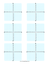 Printable Multiple Coordinate Graphs 6 Per Page