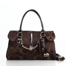 Coach Ring Chain Large Coffee Satchels 20753