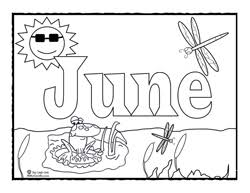 coloring page for june sing laugh learn