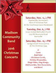 Christmas Program Templates Madison Community Band Christmas Concert Rocket City Mom