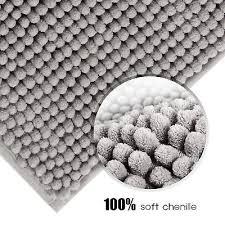 lifewit bath mat non slip microfiber gy chenille bath shower rugs 32 x20 2