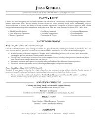 Sample Pastry Chef Cover Letter Valid Pastry Chef Resume Template